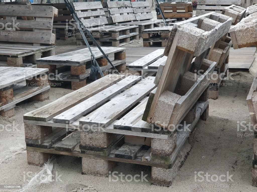 Fantastic Wooden Bench Made Of Pallets For Sitting Stock Photo Ocoug Best Dining Table And Chair Ideas Images Ocougorg