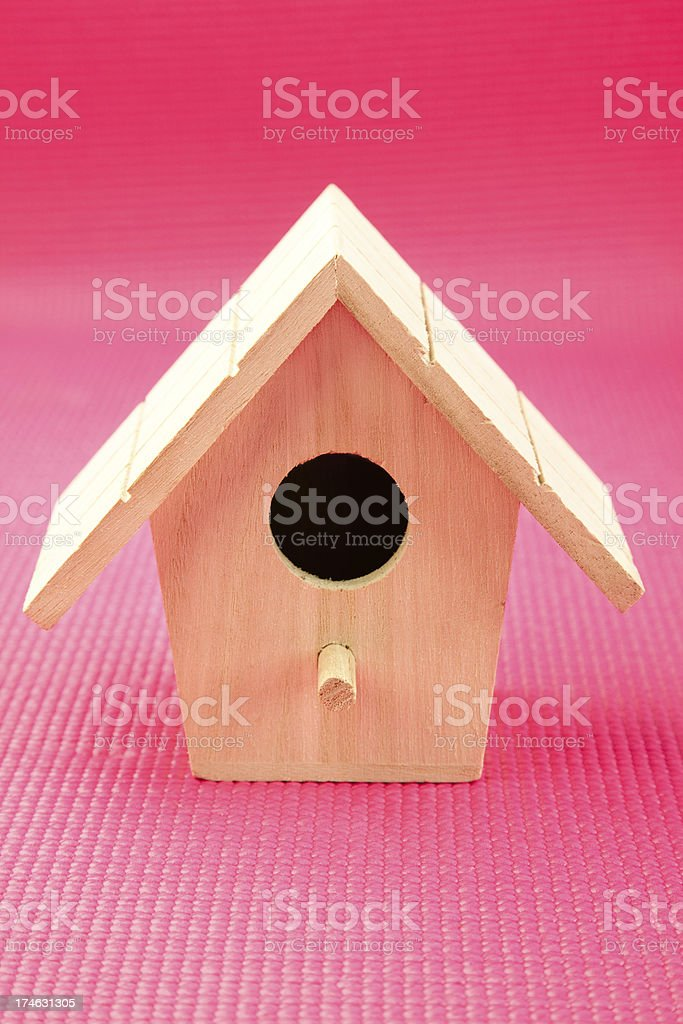 Wooden Bird House royalty-free stock photo