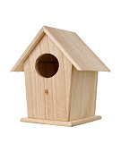 creative wooden bird house background