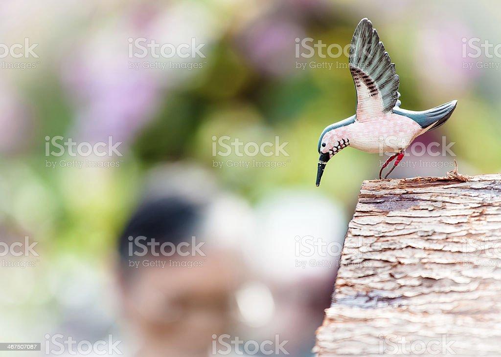 Wooden Bird stock photo