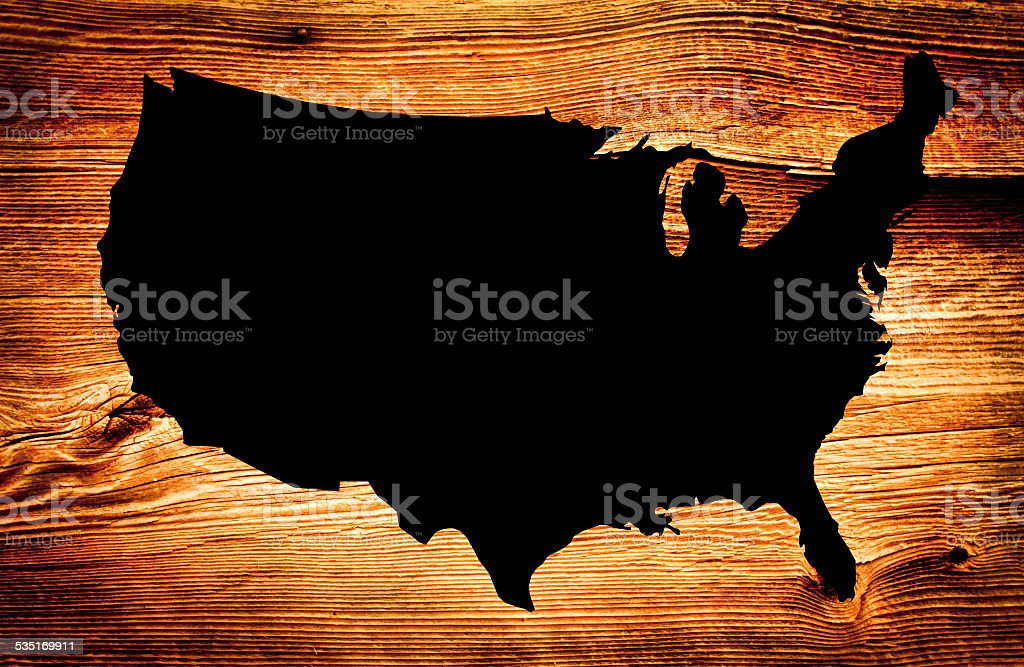Wooden Black Map stock photo