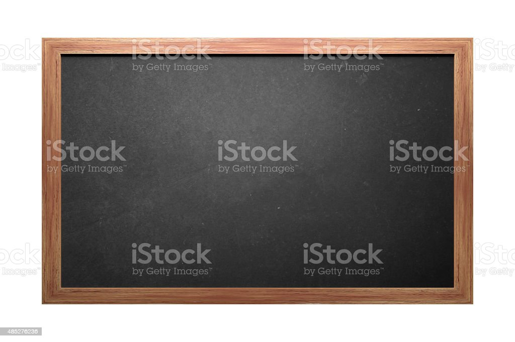 Wooden Blackboard stock photo