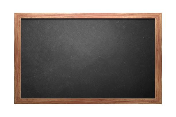 Wooden Blackboard stock photo