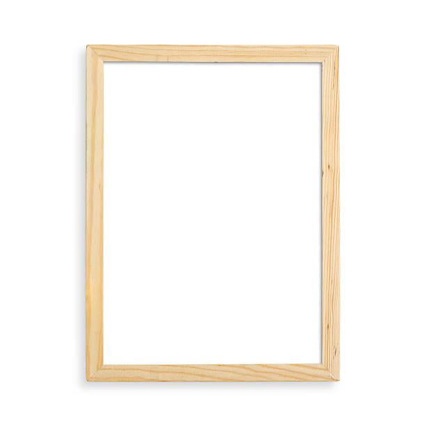 telaio in legno vuoto - intelaiatura foto e immagini stock