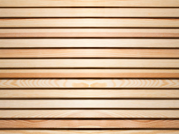 Wooden blinds as a background. stock photo