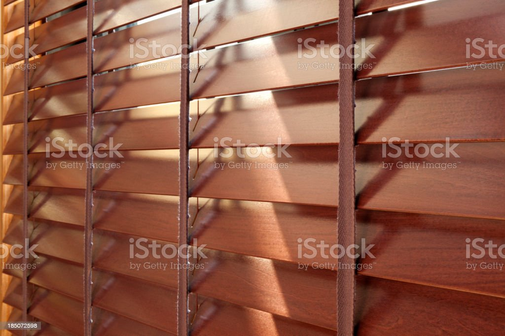 Wooden blinds royalty-free stock photo