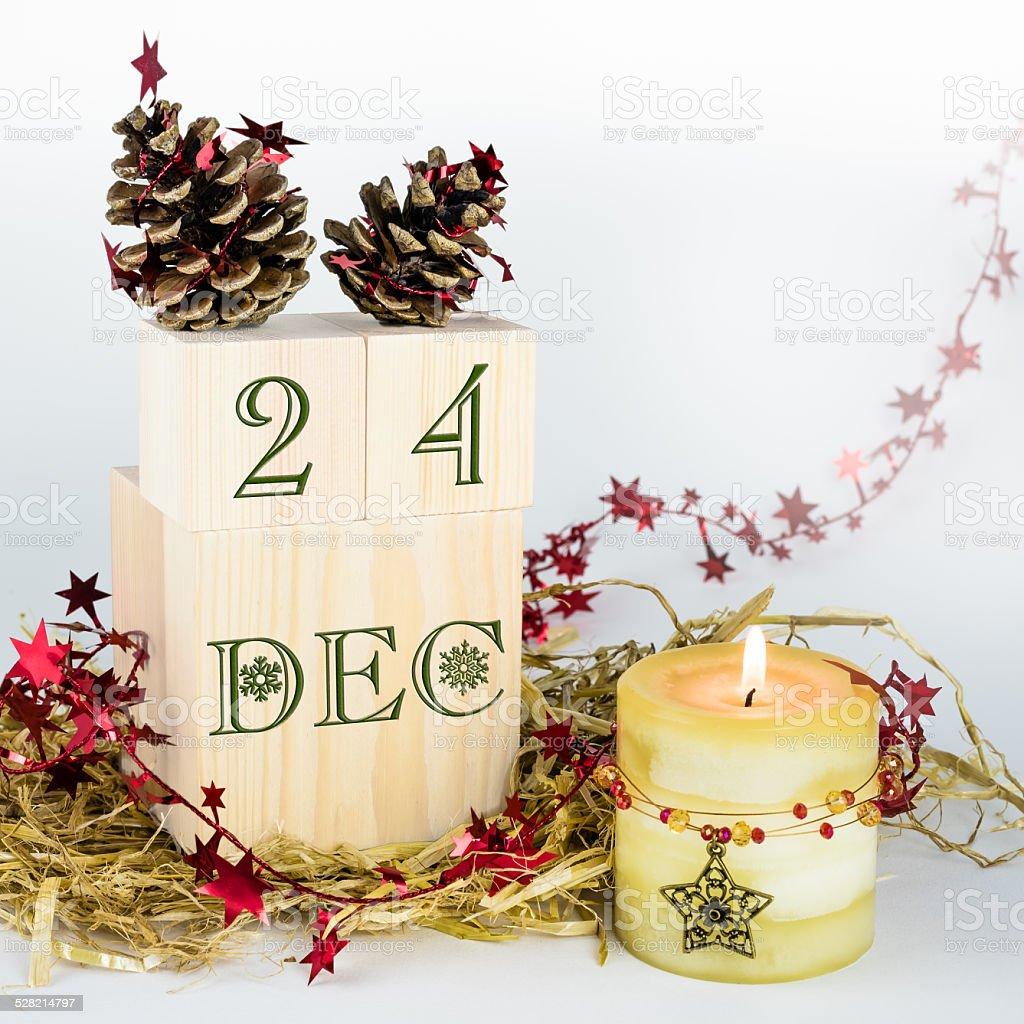Weihnachten Bilder Bearbeiten.Holzblock 24 Dezember Weihnachten Bearbeiten Stockfoto Und Mehr
