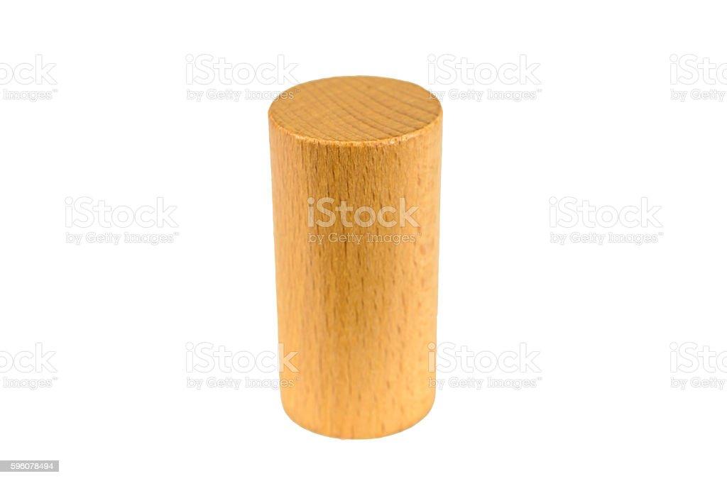 wooden block cylinder shape stock photo
