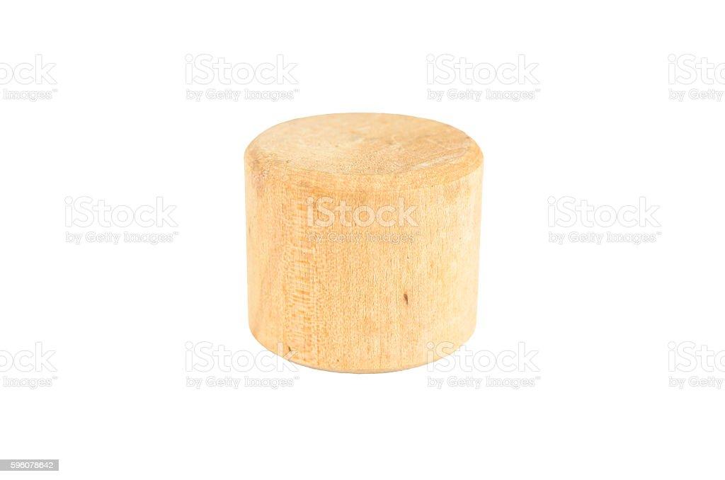 wooden block cylinder shape royalty-free stock photo