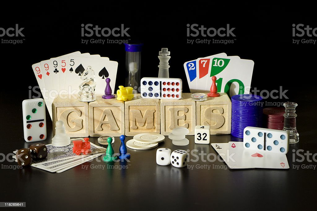 Wooden block Game scene stock photo