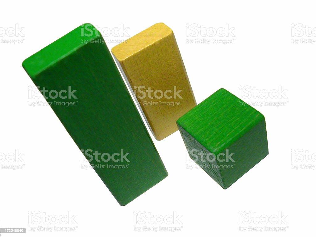 wooden block histogram stock photo