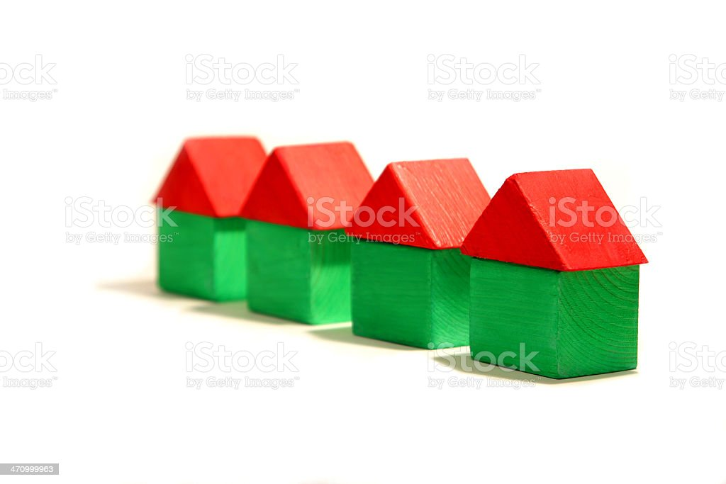 Wooden Block Houses royalty-free stock photo