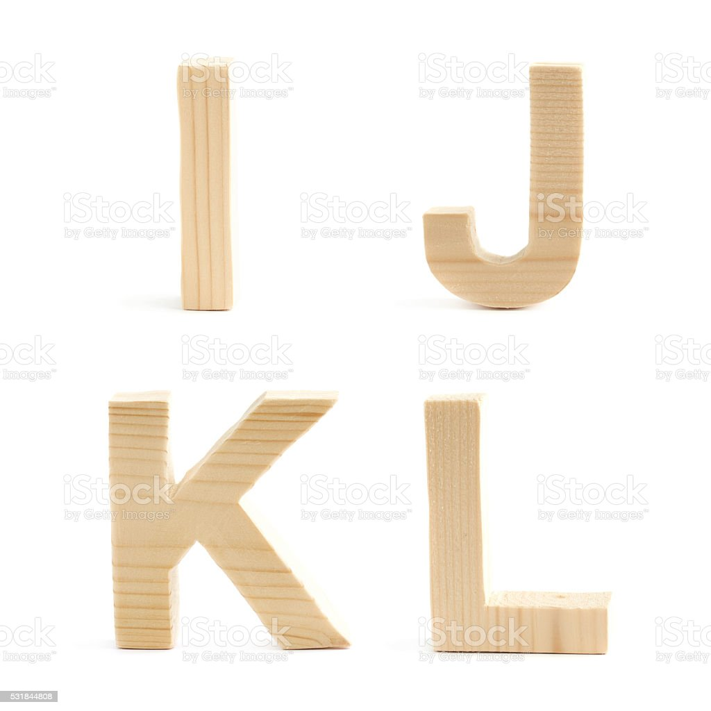 Wooden Block Letter Set Isolated Stock Photo  Istock