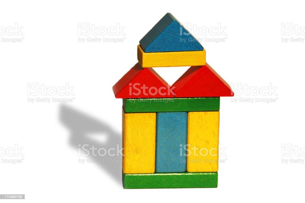 wooden block pagoda royalty-free stock photo