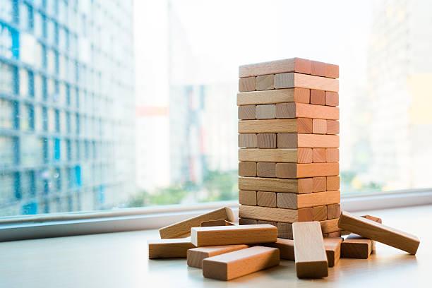 wooden block stock photo
