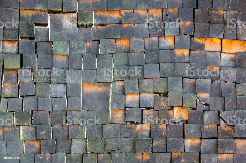 Wooden Block Texture Wood Burning Background Stock Photo