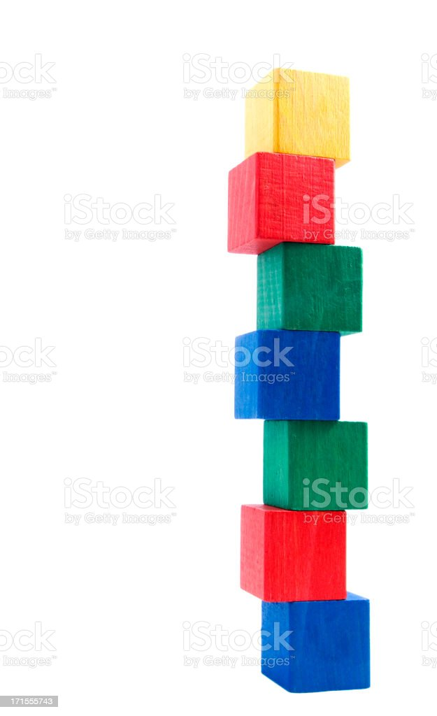 wooden blocks agaist a white background royalty-free stock photo
