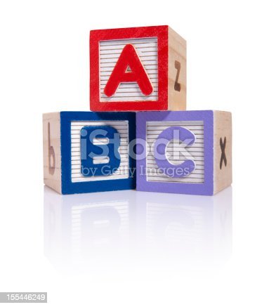 istock ABC wooden blocks cube (clipping paths) 155446249