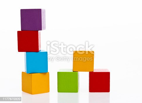 1134528355 istock photo Wooden blocks on white background 1177670320