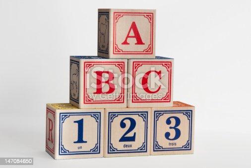 istock ABC 123 Wooden Blocks 147084650
