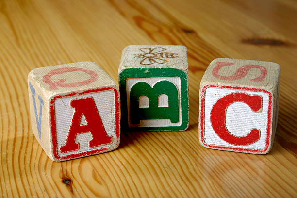 wooden blocks - alphabetical order stock pictures, royalty-free photos & images