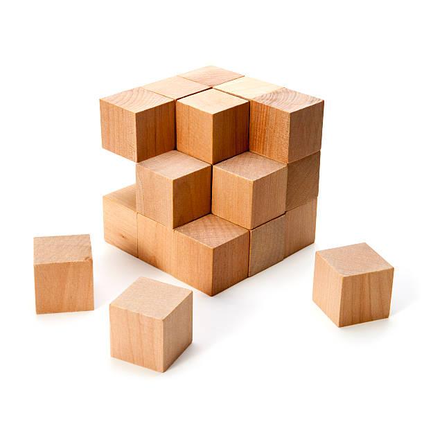 Bloques de madera - foto de stock