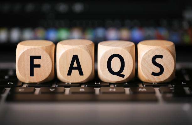 FAQS Wooden Blocks stock photo