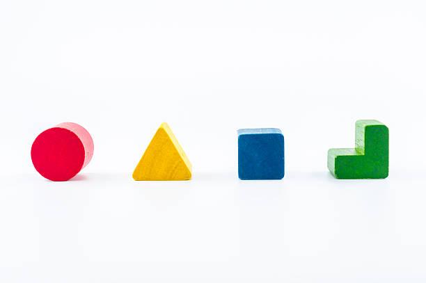 Bloques de madera de forma Clasificador de juguete - foto de stock