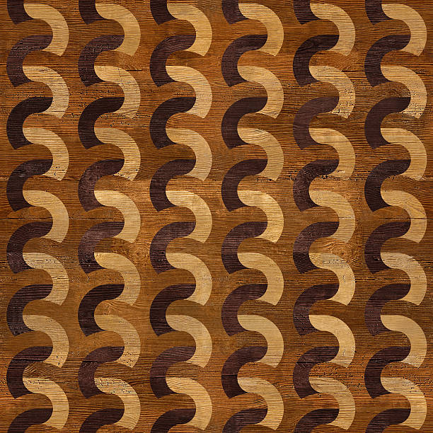 Wooden blocks stacked for seamless background Seamless wooden elementary rippling patterns inlay stock pictures, royalty-free photos & images