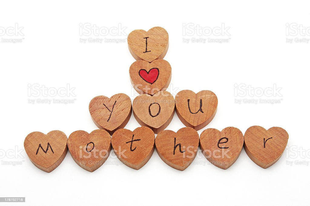 Wooden blocks with text stock photo
