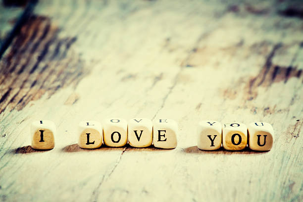 wooden blocks with the words i love you - i love you stock photos and pictures