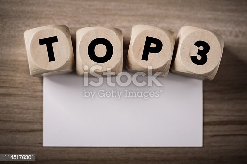 istock Wooden Blocks With Top 3 Text 1145176301