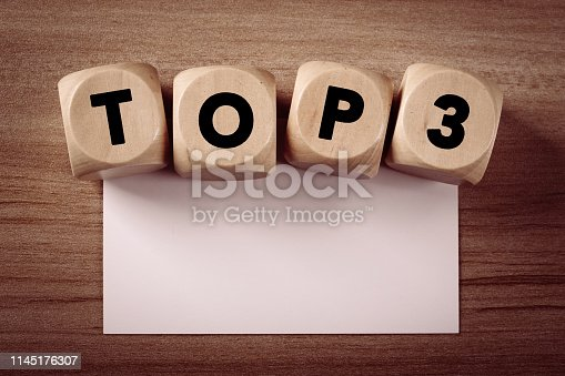 istock Wooden Blocks With Top 3 Text 1145176307