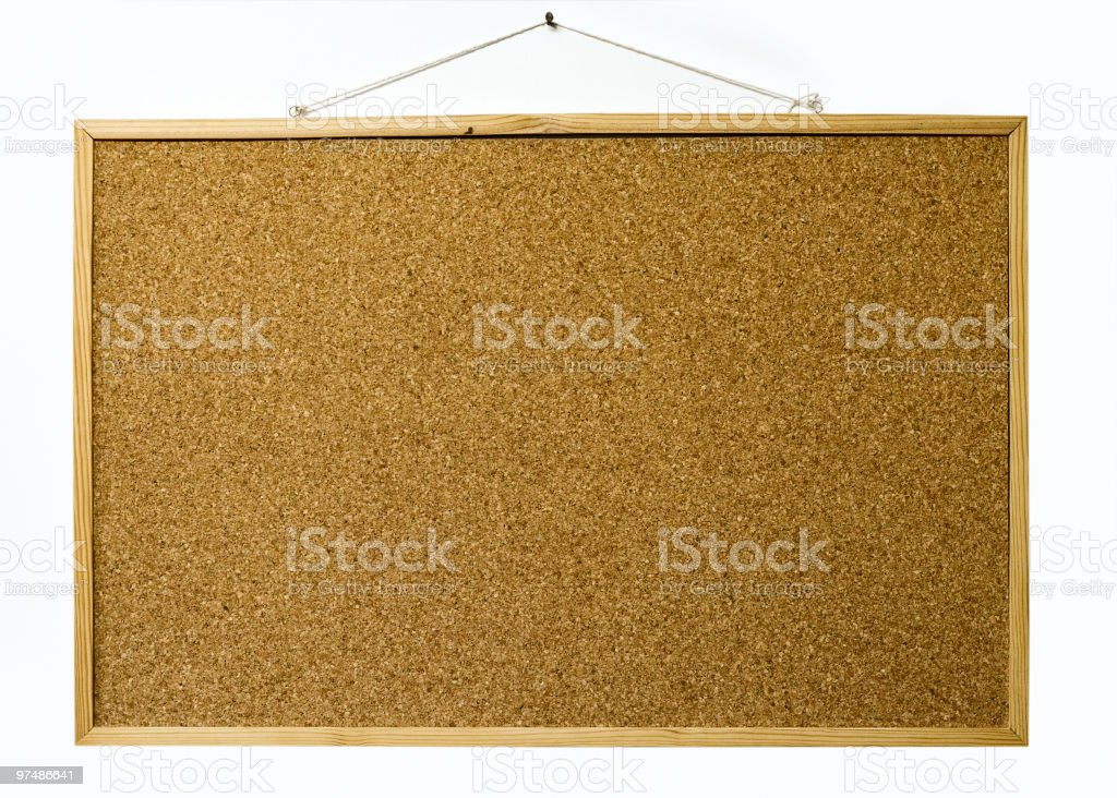 Wooden board in white wall royalty-free stock photo