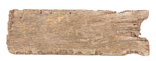Wooden board isolated stock photo