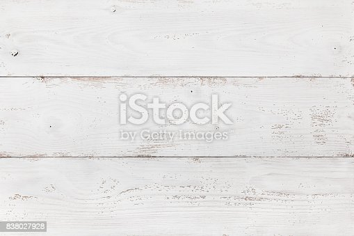istock Wooden Board Painted White 838027928