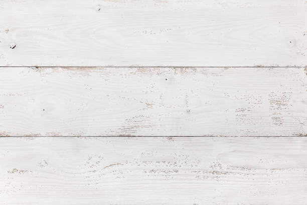 Wooden Board Painted White stock photo
