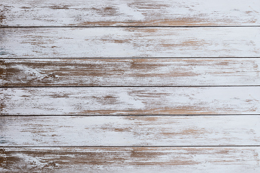 Wooden board white old style abstract background .