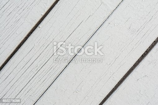 666644136 istock photo Wooden boards have a vertical arrangement, painted with gray paint, visible wood texture and small cracks, abstract background 653278098