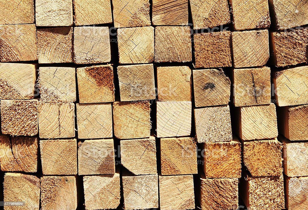 Wooden boards in a warehouse royalty-free stock photo