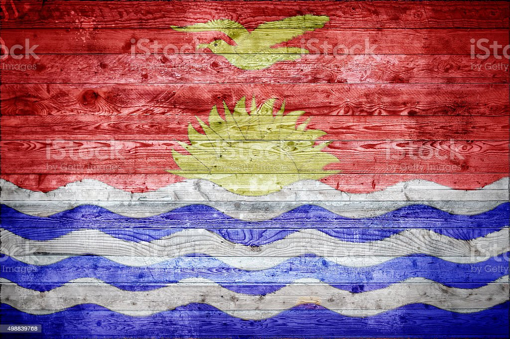 Wooden Boards Kiribati stock photo