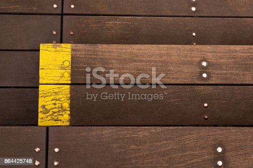 wooden boards with bolts. Texture background