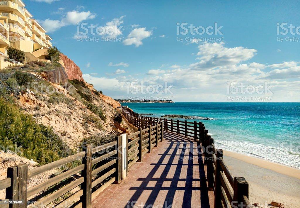 Hölzernen boardwalk – Foto