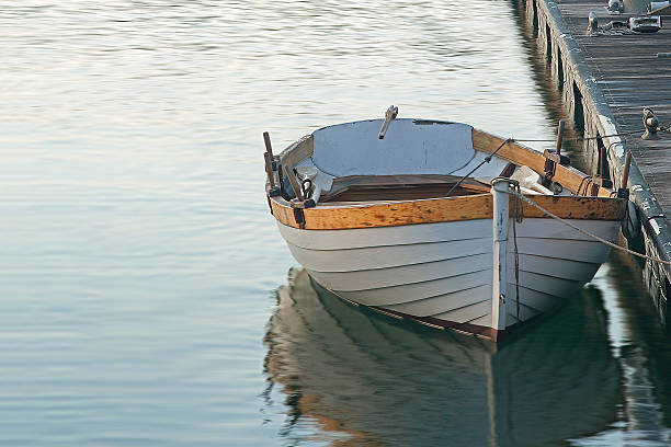 Wooden Boat at Rest stock photo