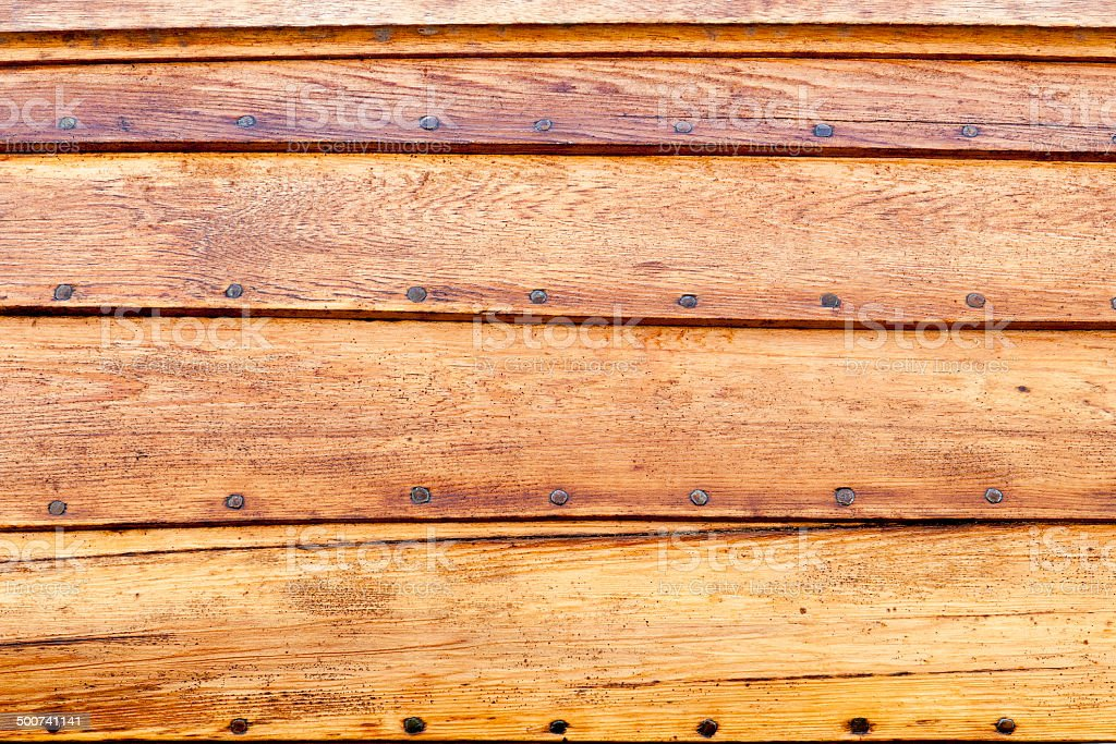 Wooden boat details stock photo