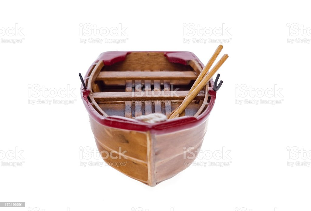 Wooden Boat  Model 3 royalty-free stock photo