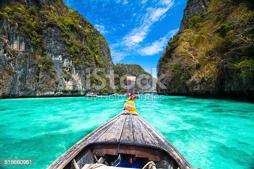 istock Wooden boat on Phi-Phi island, Thailand. 515660981