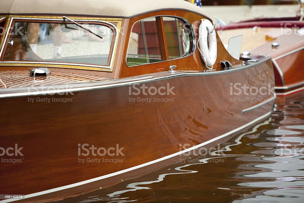 Wooden boat show in Sandpoint Idaho stock photo