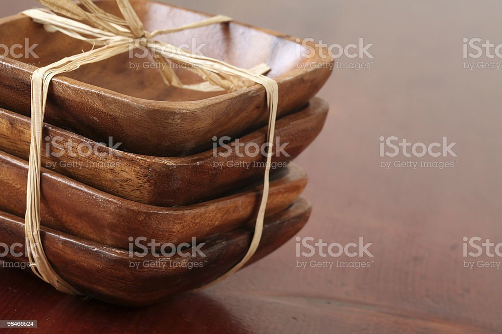 Wooden bowls royalty-free stock photo