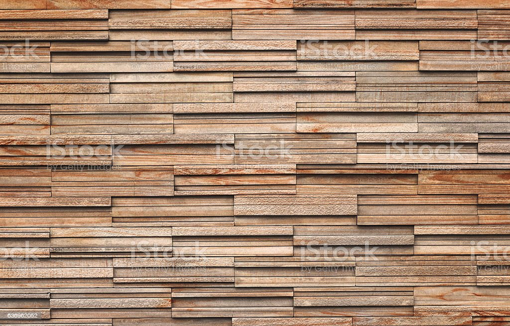 Wooden bricks slate wall texture background - Photo